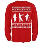 Zombie Ugly Christmas Sweater Red Adult Mens Long Sleeve T-Shirt Top