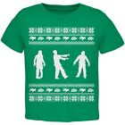Zombie Ugly Christmas Sweater Green Toddler T-Shirt Top