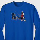 The Rodfather Funny movie Parody T-shirt Fishing Anglers Joke Long Sleeve Tee