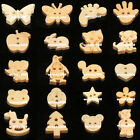 50/100 Cartoon Wooden Button Loose Bead Wedding Birthday Xmas Party Craft Sewing