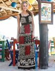 Bravissimo Embellished Scarf Maxi Dress in BLACK PRINT RRP £79   (26)