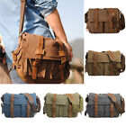 New Boy Vintage Canvas+Leather Shoulder Bag School Military Messenger Bag AB181