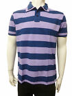 Mens Mexx Polo T Shirt Top Lilac Stripes - Navy Size L to 3XL MT451D20