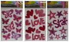 Glitter FRIDGE MAGNETS (Decoration, Pink, Girl, Sparkle)