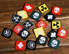"1"" 3D SKULL PAW LEAF EVIL TACTICAL ARMY MORALE AIRSOFT PVC RUBBER VELCRO PATCH"