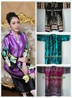 Hot Sale New Women Silk Kimono Hand-Made Painted Kaftan Robe Gown,Flowers-15 Sty