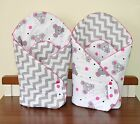 Baby Newborn Wrap two sided  sleeping bag  you will love it mat pink mint