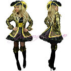 Pirate Fancy Dress Costume Ladies Outfit Women Caribbean Plus Size UK Wench Lady