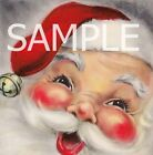 Fabric Art Quilt Block *Retro Santa Claus* 14-0398