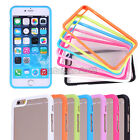 "Soft TPU Bumper Frame Clear PC Back Case Cover For iPhone 6 4.7""/ 6 Plus 5.5"""