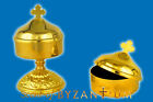 Metal Incense Storage Box with Cross in the Top + Free Incense Box