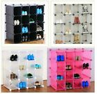 9 Durable Interlocking Storage Organiser Shoe Rack Add Clothing Hanger and doors