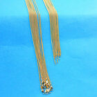 """1PCS 16-30"""" Jewelry 18K Yellow Gold Filled Chain Flat Curb Necklaces For Pendant"""