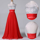 Valentine's DAY GIFT Beaded Long Formal Evening Party Bridesmaid Prom LONG Dress