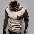 New Mens Long Sleeve Crewneck Knitwear Casual Sweater Jumper Pullover HOT A8842