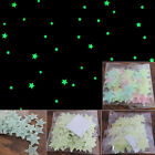 Baby Kids Bedroom Wall Ceiling Glow Stars Stickers Decal 100PCS Light Green