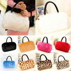 Women's shoulder HandBag Faux Fur Clutch Tote Hobo Bag Long Purse Wallet Fashion