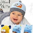 NEW Cute Baby Boy Hat Newborn Cap Infant Aviator Tie Up Cotton Stretchy