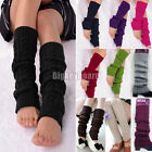 Women Winter Knit Crochet Leg Warmers Knee High Trim Socks Stockings Thigh-Highs