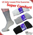 3,6,12 Pairs Diabetic Crew Circulatory Socks Health Mens Cotton 9-11 10-13 13-15 $16.66 USD on eBay