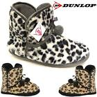 Ladies Slippers New Womens Dunlop Winter Boots Warm Fur Ankle Bootie Shoes Size