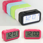 LCD Display Digital Date Time Alarm Snooze Clock White LED Light Calendar SC3019