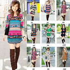 Women New Look Long Sleeve T-Shirt Tee Tops Pullover Ugly Sweater Jumpers 1-14#