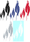 FEATHERS VINYL GRAPHIC CAR DECAL/STICKER - CHOICE OF 5 COLORS