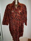 Rasurel BAHIA Cover Up Shirt dress in brown print L- XL BNWT