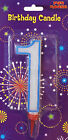 Happy Birthday Giant Jumbo Big Large Glitter Candle Blue Or Pink Candles Numbers