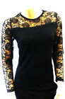New Ladies Vintage style Retro Pin-up Lace long sleeve Sweater Jumper Top