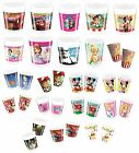 8 PARTY CUPS - Range of LICENSED CHARACTER DESIGNS (Birthday Supplies){Set2}