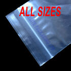 GRIP SEAL BAGS Self Resealable Poly Clear Mini & Large Plastic****ALL SIZES****
