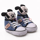 Infant Toddler Baby Boy Mickey Mouse 3D Crib Shoes Size Newborn to 18 Months