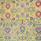 French Rococo Jacobean, Metallic Gold & Multicolored on Soft Yellow by Hoffman
