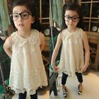 Vintage Baby Girls Dress Kids Princess Party Lace Tutu Formal Gown Dresses 2-7Y