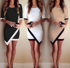 Black/White/Khaki Womens Sheath Casual Evening Sexy Party Cocktail Prom Dress SR