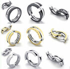 Mens Ring Wedding Band Engagement Mechanical Stainless Steel Silver Gold Black