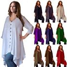WOMENS BOHO SHIRT BLOUSE BUTTONS ASYM MADE TO ORDER J101 LotusTraders PLUS CHIC