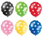 "6 Polka Dots Spots Spotty 12"" LATEX BALLOONS Birthday Party Decorations Supplies"