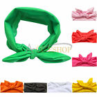 Toddler Baby Girls Bunny Rabbit Bow Knot Turban Headband Hair Band Headwrap Cute