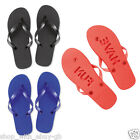 UNISEX FLIP FLOPS SAND IMPRINT SOLE EMBOSSED 'HAVE FUN'  FOAM BEACH SANDALS