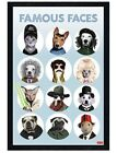 Black Wooden Framed Famous Faces Maxi Poster 61x91.5cm
