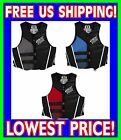 JET PILOT CAUSE USCG Approved Life Vest Jacket Neoprene JP14234 Black Red Blue