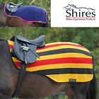 Shires Fleece Exercise Sheet Newmarket Stripe or navy rug, All sizes on sale
