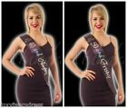 Black Satin and Diamanté Sashes 30th,40th,50th 60th Birthday Sash Birthdays