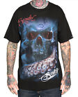 Sullen Clothing Nautiskull Mens T Shirt Black Skull Tattoo Goth Tee
