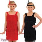 GIRLS FLAPPER 1920'S CHARLESTON RED BLACK DANCE FANCY DRESS COSTUME