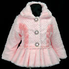 Pink p109 VarSun2017 Holiday X'mas Soft Faux Fur Party Girls Coat/Jacket 2,3-7y