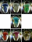 "4"" Emerald Light Blue Pink & Red Handmade Glow In The Dark Glass Jellyfish"